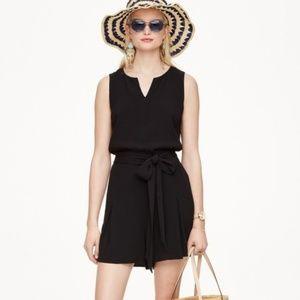 Kate Spade black romper dress large L w/ bow sash